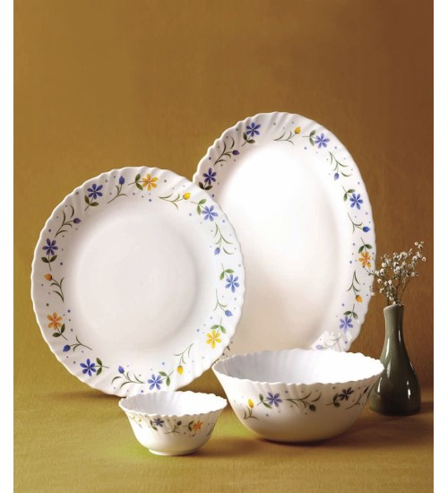La Opala Dinner Set 21 pcs - TWILIGHT BOQUET