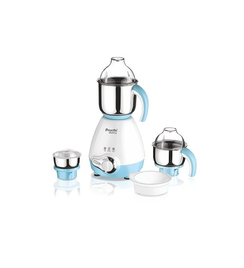 Preethi Blueberry 750-Watt Mixer Grinder (White/Sky Blue)