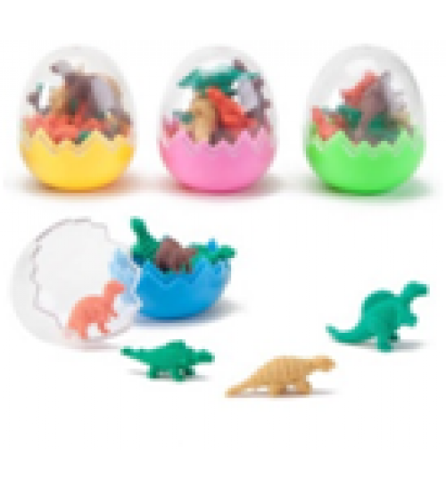 Animal Non-Toxic Dinosaur Shaped Small Erasers (SET OF 4)