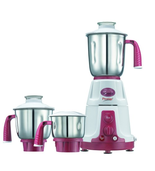 Prestige Deluxe VS 230volts, 750 Watts-Mixer Grinder,(with three stainless still jar)