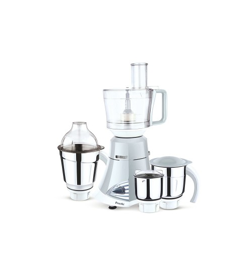 Preethi Titanium 750-Watt Mixer Grinder (Light Grey/White)