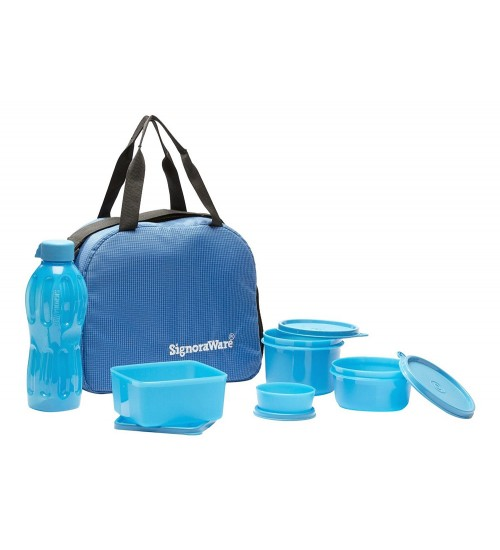 Signoraware  Sling with Blue Bag Set, 6-Pieces, Blue
