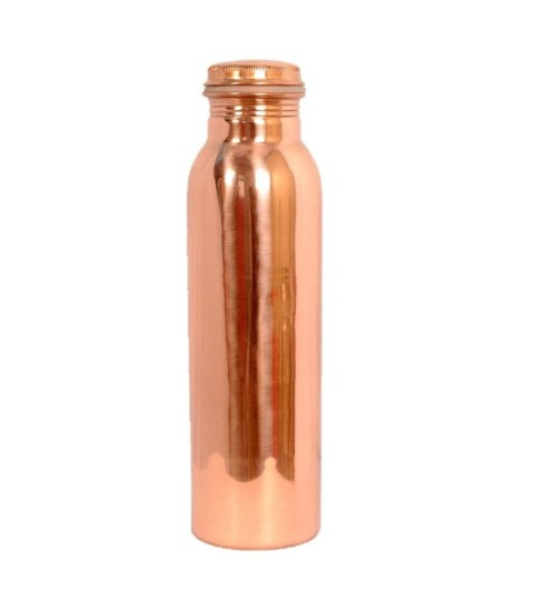 Just Copper No Joint and Leak Proof Ayurvedic Health Benefits Copper Water Bottle for Yoga, Gym, 1L (Gold, JSCo-001)